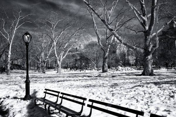 Wall Art - Photograph - Quiet Winter At Central Park by John Rizzuto
