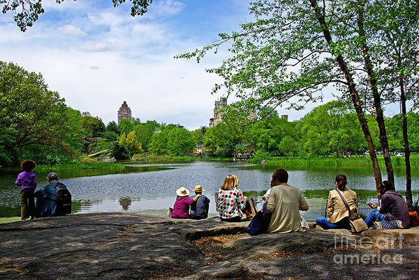 Wall Art - Photograph - Quiet Moment In Central Park by Zal Latzkovich