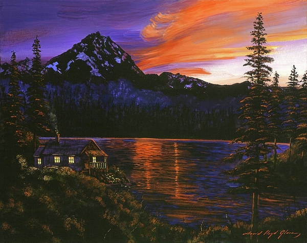Painting - Quiet Night by David Lloyd Glover