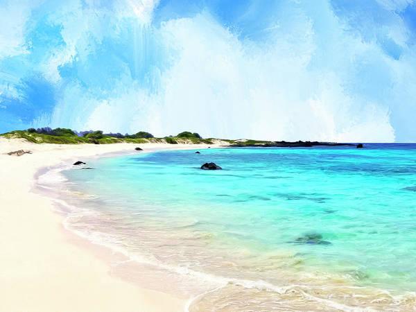 Wall Art - Painting - Quiet Shore Near Makalawena by Dominic Piperata