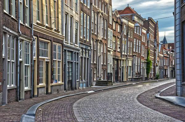 Quiet Street In Dordrecht Art Print