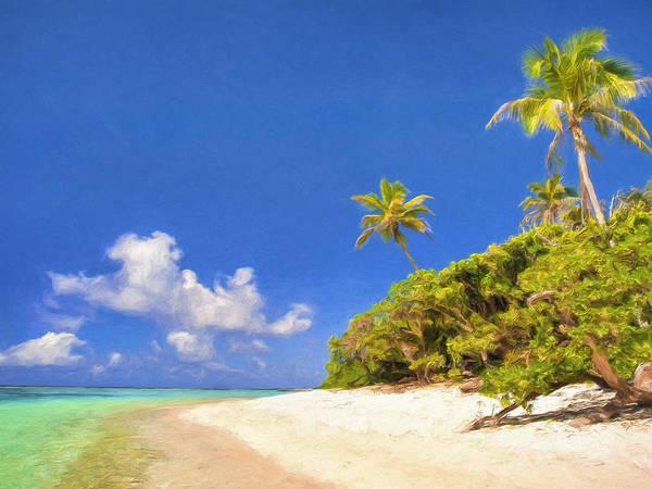 Fatu Hiva Wall Art - Painting - Quiet Tahiti Beach by Dominic Piperata