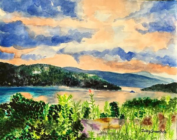 Wall Art - Painting - Quiet Waters by Judy Swerlick