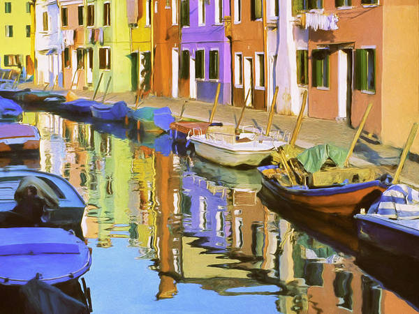 Painting - Quiet Waterway Reflections by Dominic Piperata