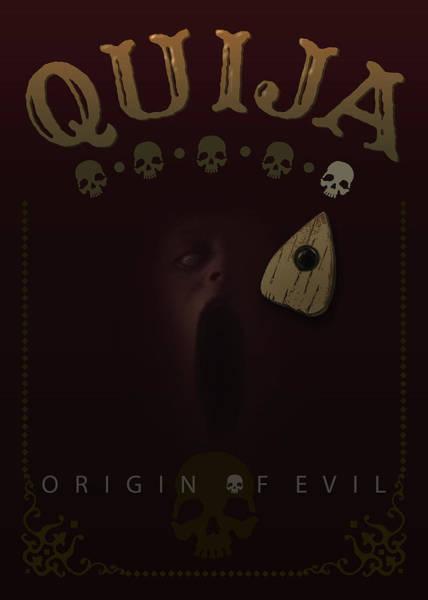 Digital Art - Quija, Origin Of Evil - My Movie Poster by Attila Meszlenyi