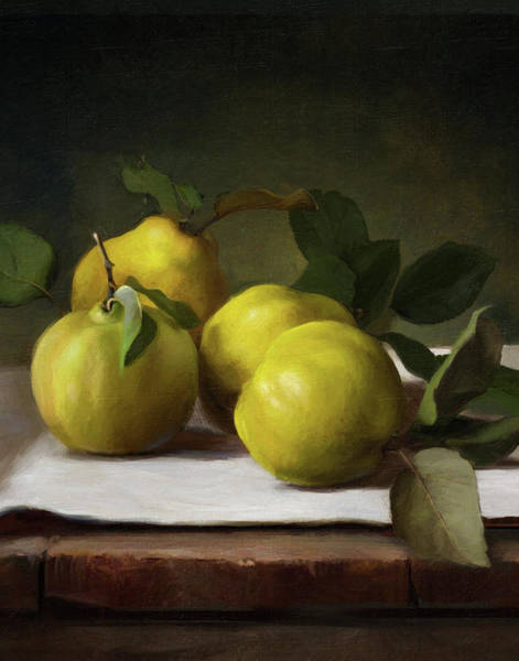Fruit Still Life Wall Art - Painting - Quince by Robert Papp