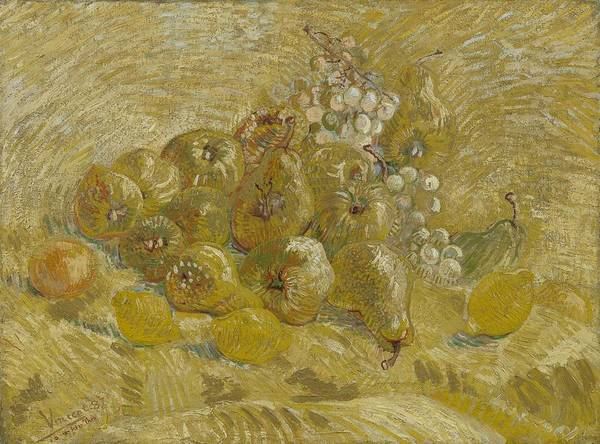 Painting - Quinces, Lemons Pears And Grapes Paris, September - October 1887 Vincent Van Gogh 1853  1890 by Artistic Panda