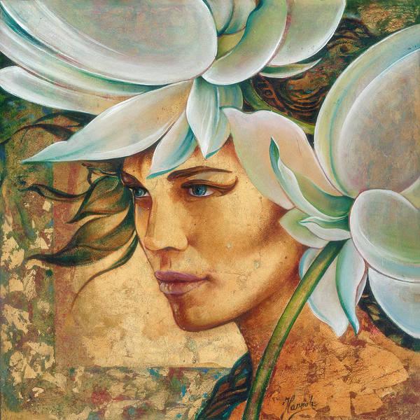 Painting - Quine Of Lotus Land by Anna Ewa Miarczynska