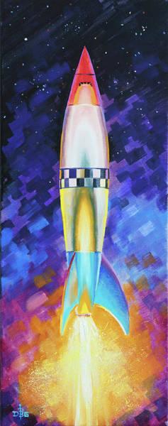 Painting - Quintesential Rocketship by David Bader