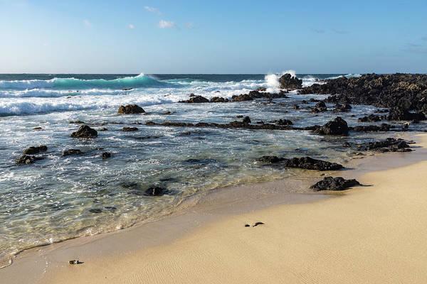 Photograph - Quintessential Hawaii - Beach Lava Rocks And Waves by Georgia Mizuleva