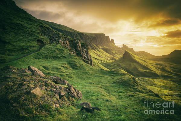 Photograph - Quiraing Landscape 1 by David Lichtneker