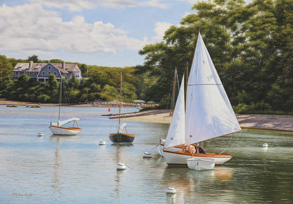 Falmouth Wall Art - Painting - Quissett Spring Day Sail by Julia O'Malley-Keyes