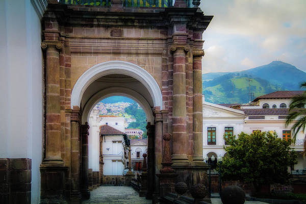 Wall Art - Photograph - Quito Cathedral Arch by Terry Davis