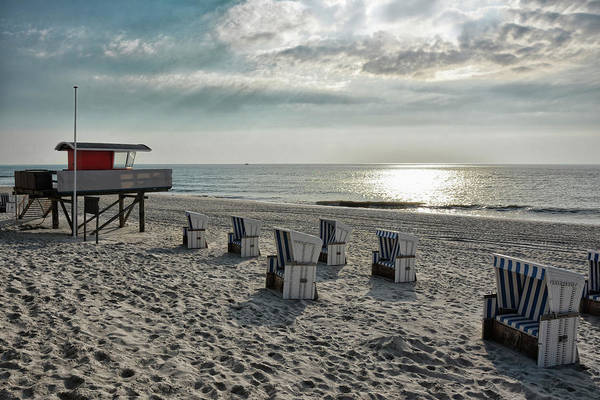 Wicker Chair Photograph - Quitting Time At The Beach by Joachim G Pinkawa