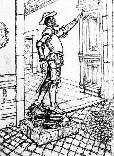 Wall Art - Drawing - Quixote Museum by Rich Travis