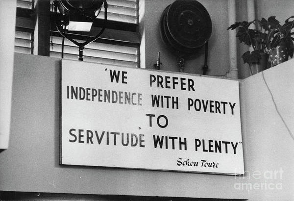 Ghana Wall Art - Photograph - Quote By Ahmed Sekou Toure  by The Harrington Collection