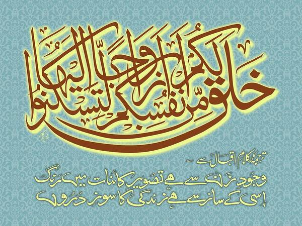 Ra Digital Art - Quranic Verse About Female by Ibn-e- Kaleem