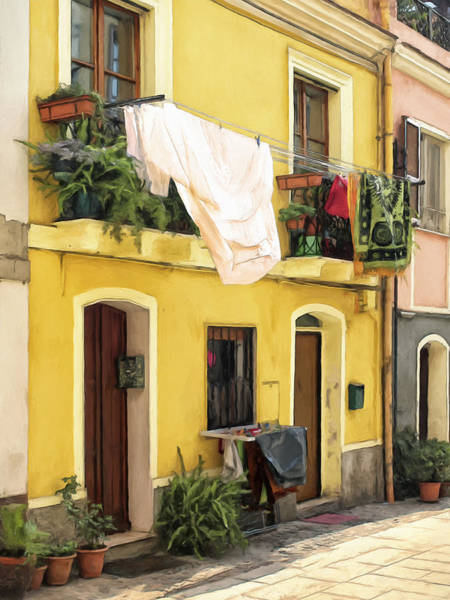 Painting - Quiet Afternoon In Calabria by Dominic Piperata