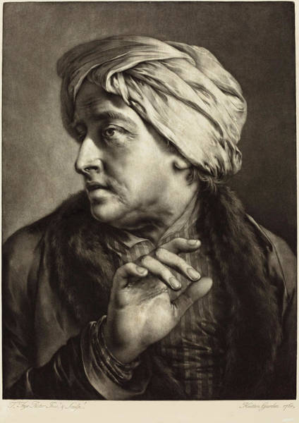 Painting - A Man With A Turban And Striped Shirt by Thomas Frye