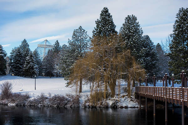 Wall Art - Photograph - R F P Centennial Trail Spokane Winter 2 by Daniel Hagerman