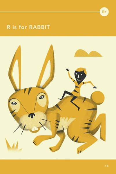 Illustrator Wall Art - Digital Art - R Is For Rabbit by Jazzberry Blue