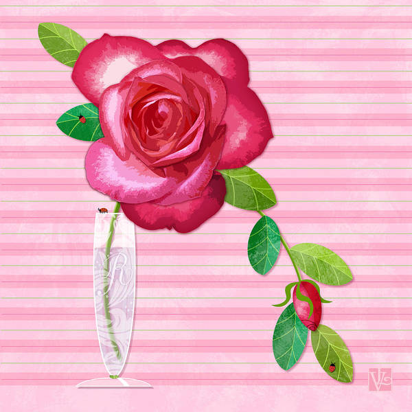 R Is For Rose Art Print
