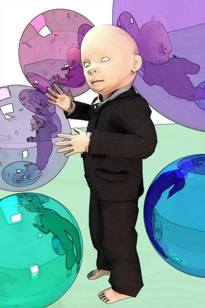 Capitalism Digital Art - R W3 7ry1n6 70 54v3 7h3 W0rld 4 U? by Chas Hauxby