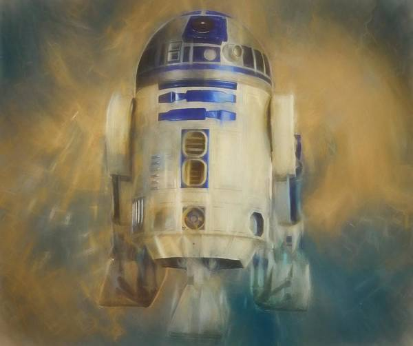 Wall Art - Painting - R2-d2 Color Warp by Dan Sproul