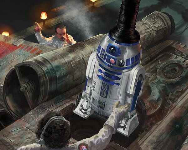 R2-d2 Digital Art - R2-d2 by Ryan Barger