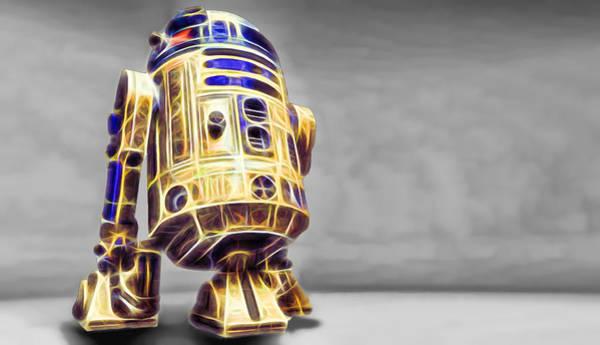 R2-d2 Digital Art - R2 Feeling Happy by Scott Campbell