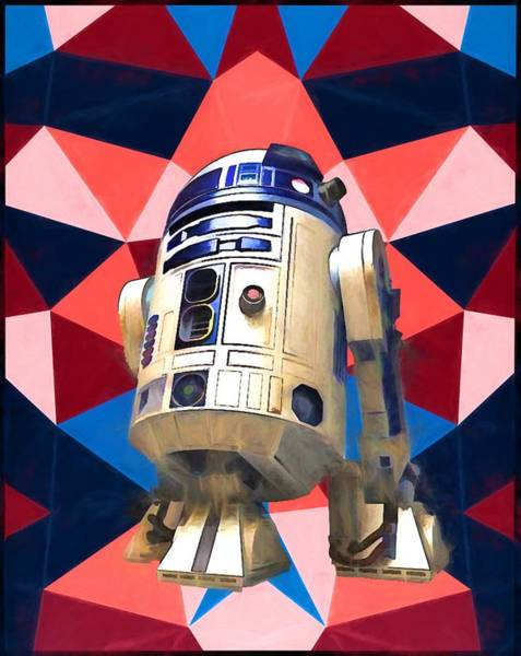 Star Wars Wall Art - Painting - R2d2 by Dan Sproul