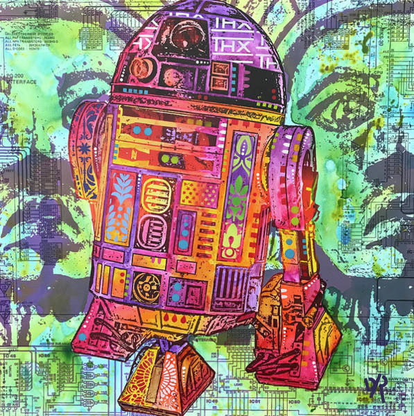 Star Wars Movie Painting - R2d2 by Dean Russo Art