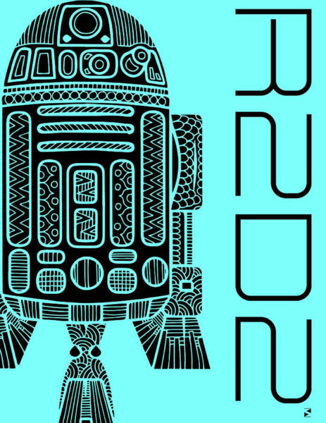 Best Selling Mixed Media - R2d2 - Star Wars Art - Blue by Studio Grafiikka