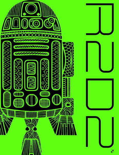 Wall Art - Mixed Media - R2d2 - Star Wars Art - Green by Studio Grafiikka