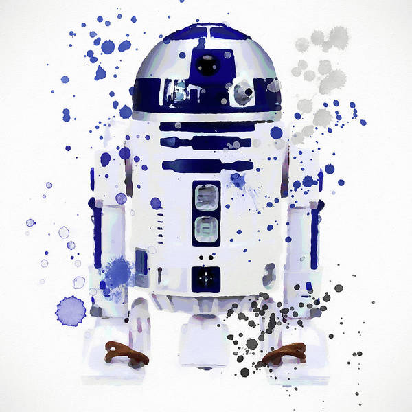 Wall Art - Painting - R2d2 Watercolor by Dan Sproul