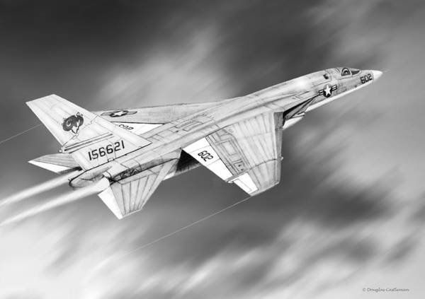 Drawing - Ra-5c Vigilante  by Douglas Castleman