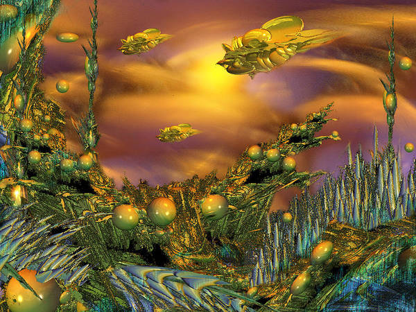 Fractal Landscape Digital Art - Ra by Phil Sadler