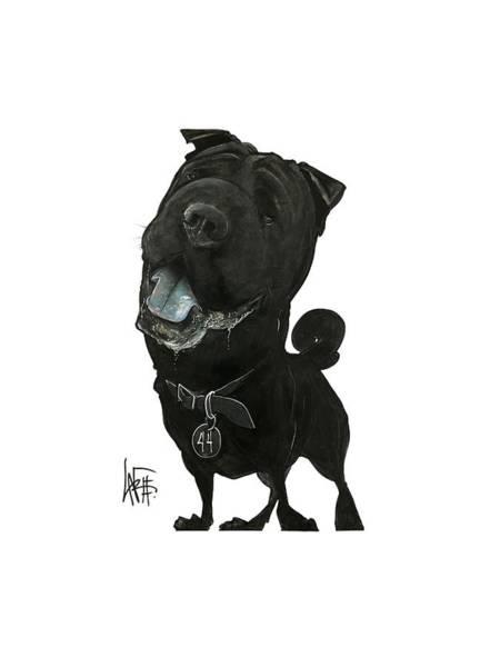 Pet Portrait Drawing - Rabbach 3017 by John LaFree