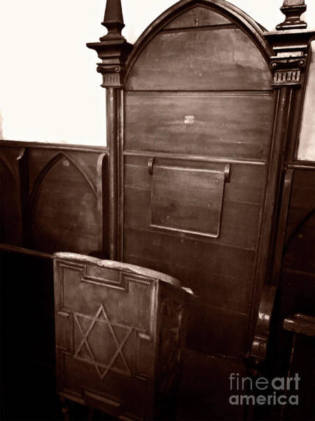 Photograph - Rabbi's Chair by Doc Braham