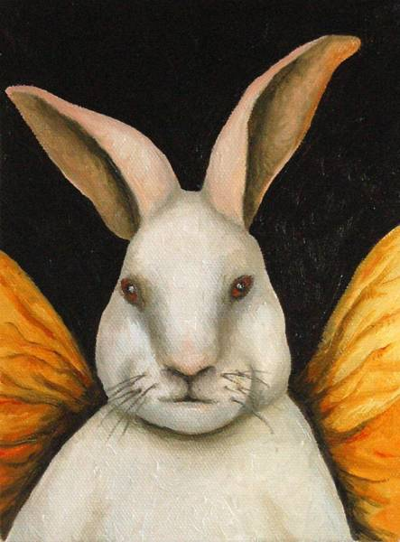 Chinese New Year Rabbit Wall Art - Painting - Rabbit Fairy by Leah Saulnier The Painting Maniac