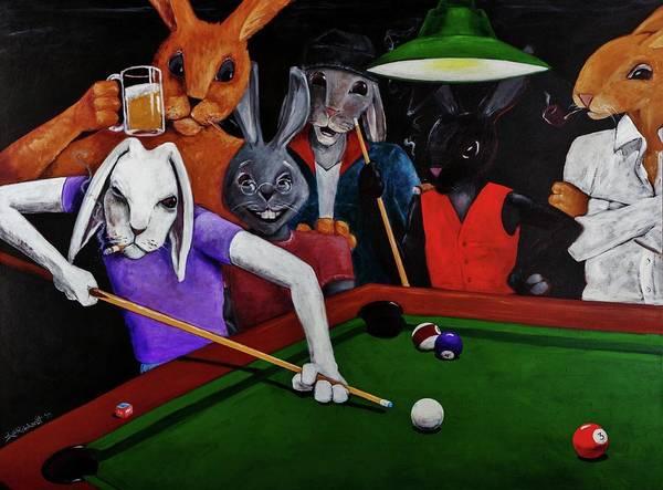 Painting - Rabbit Games by Jason Reinhardt