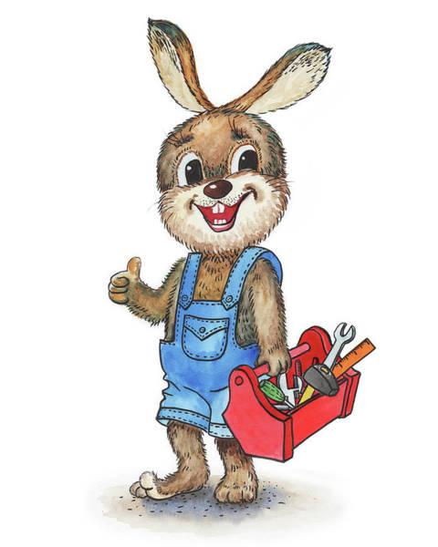 Painting - Rabbit Handyman by Irina Sztukowski