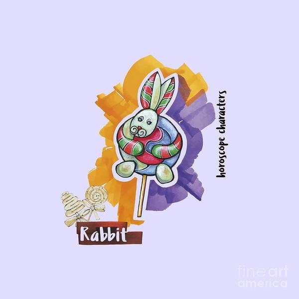 Drawing - Rabbit Horoscope by Ariadna De Raadt