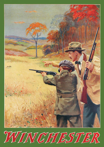 Wall Art - Painting - Rabbit Hunting by George Brehm