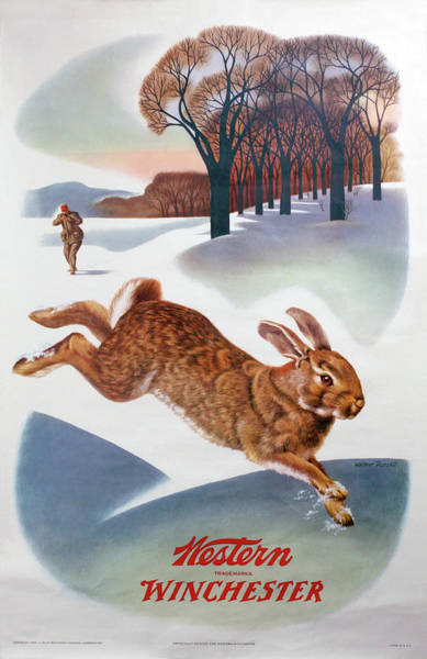 Painting - Winchester-western Rabbit Hunting  by Weimer Pursell