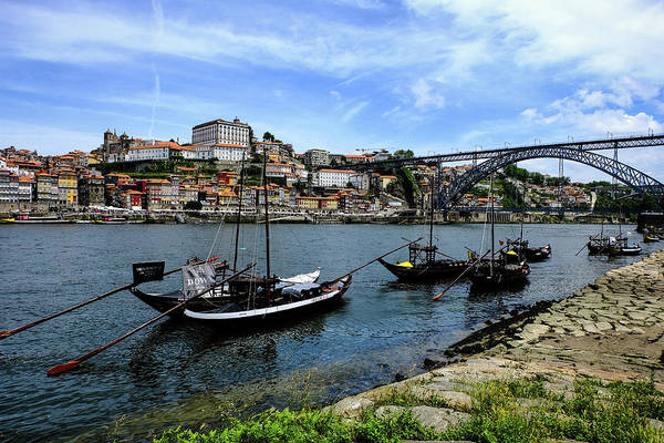 Wall Art - Photograph - Rabelo Boats And Porto Skyline by Marco Oliveira