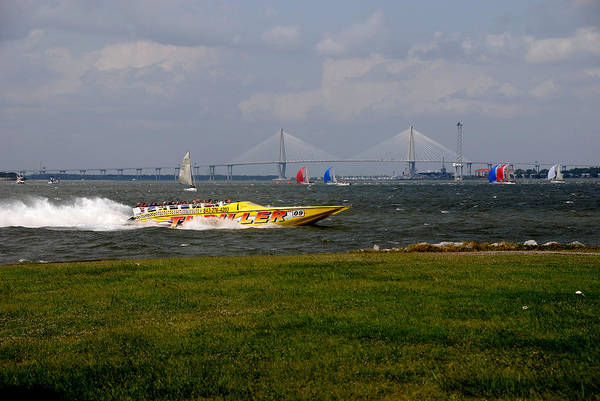 Photograph - Race Boat In Charleston by Susanne Van Hulst