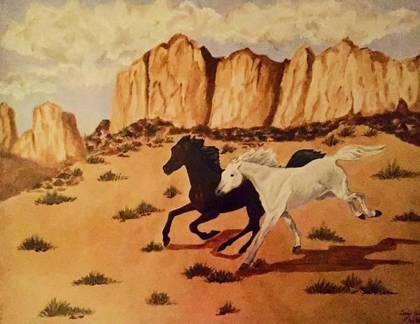 Painting - Race by Elizabeth Mundaden