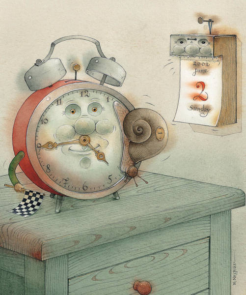 Clock Painting - Race by Kestutis Kasparavicius