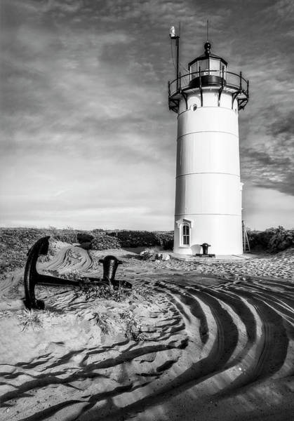 Photograph - Race Point Light Provincetown Ma Bw by Susan Candelario